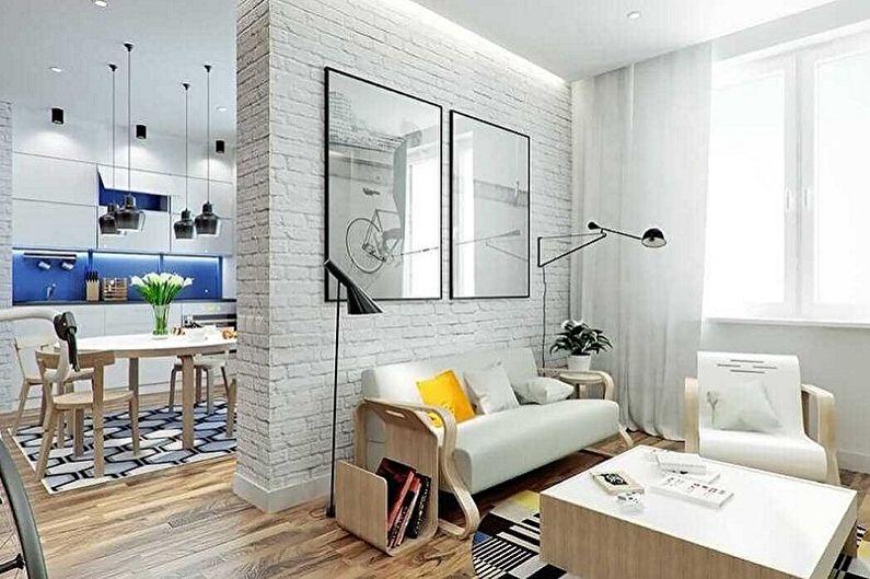 Планировка однокомнатной квартиры - Идеи для экономии места