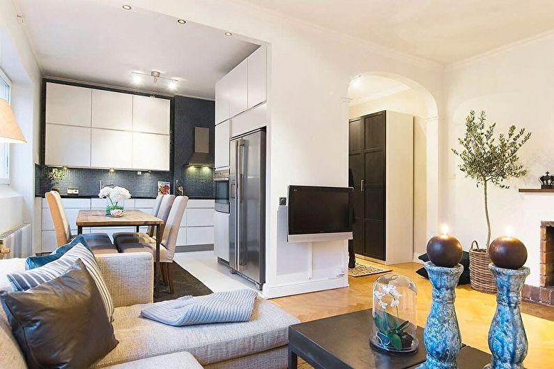 Планировка однокомнатной квартиры - фото