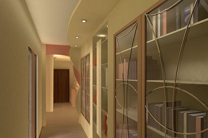 Дизайн коридора в квартире - Отделка потолка
