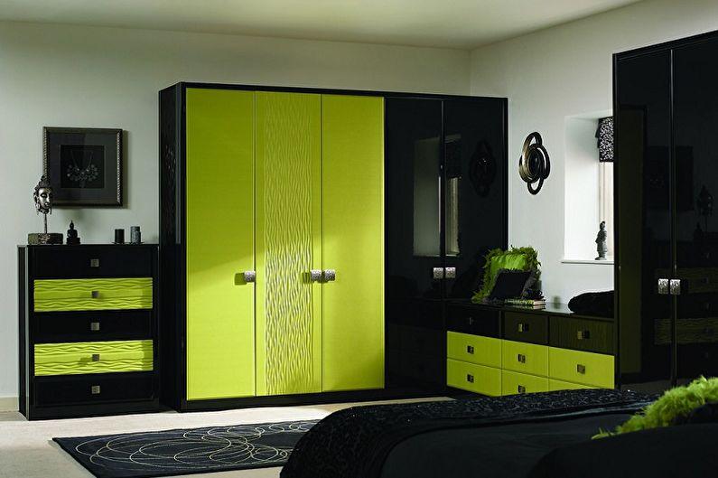 Зеленый с черным - Сочетание цветов в интерьере