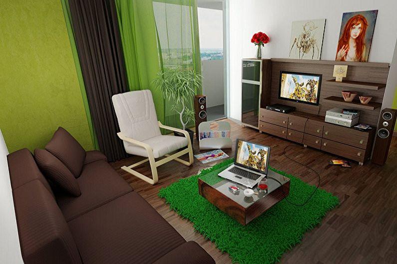 Зеленый с коричневым - Сочетание цветов в интерьере
