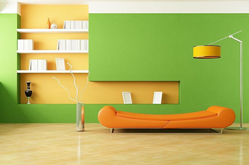 Зеленый с желтым - Сочетание цветов в интерьере