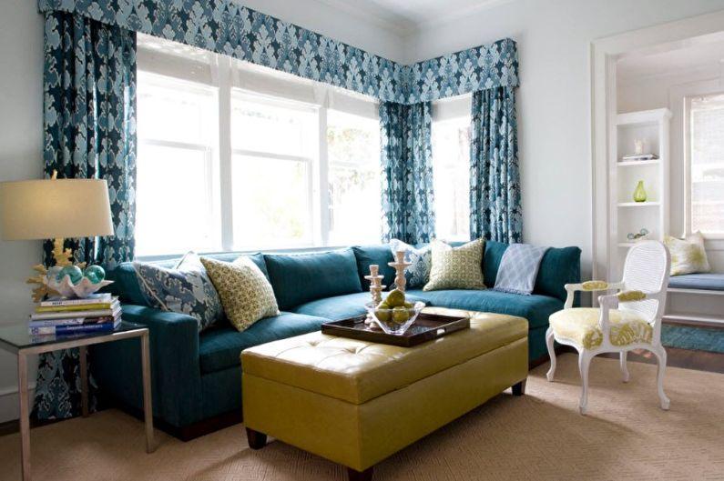 Зеленый с синим - Сочетание цветов в интерьере