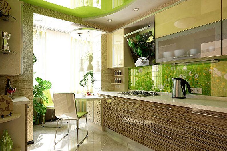 Зеленый цвет в интерьере кухни - Сочетание цветов