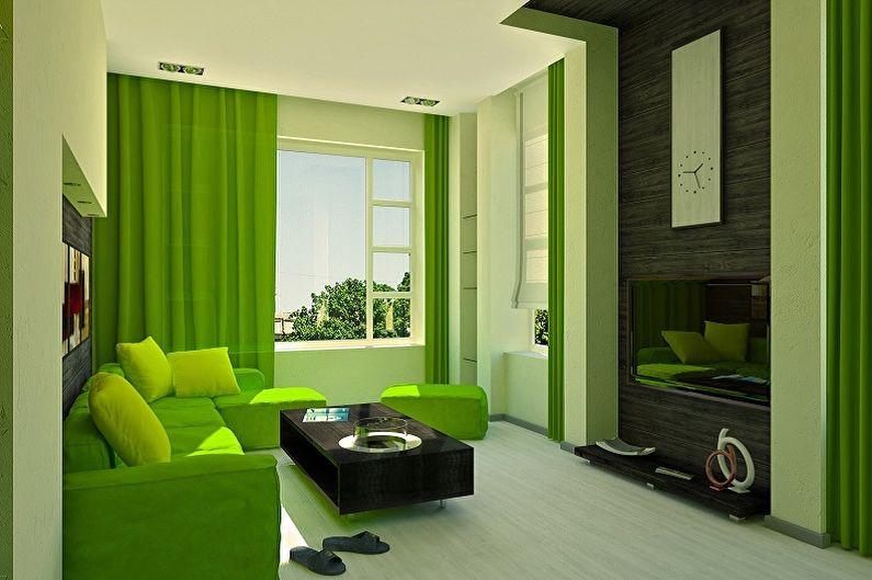 С какими цветами сочетается зеленый - фото интерьеров
