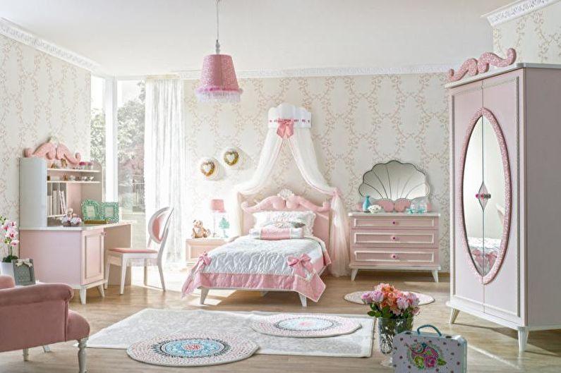 Дизайн розовой детской комнаты - Особенности