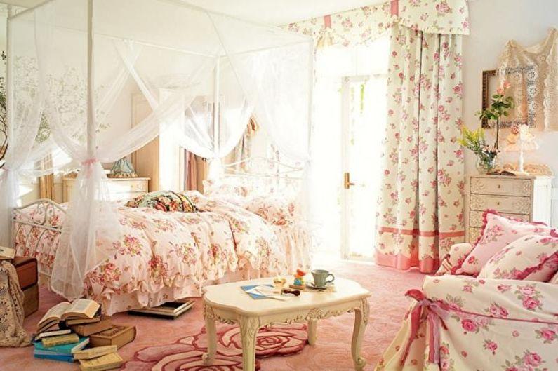 Розовая детская в стиле шебби-шик - Дизайн интерьера
