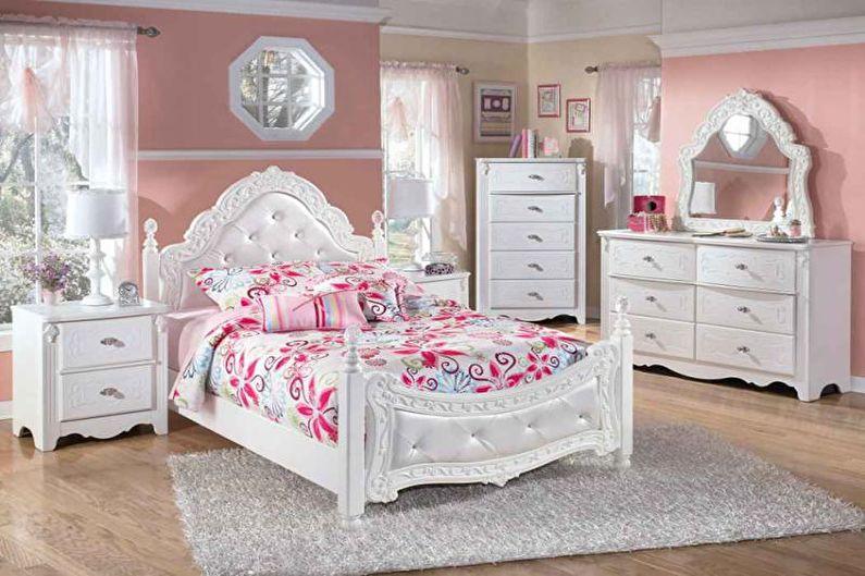 Розовая детская в стиле прованс - Дизайн интерьера