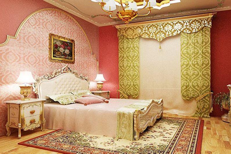 Розовая детская в восточном стиле - Дизайн интерьера