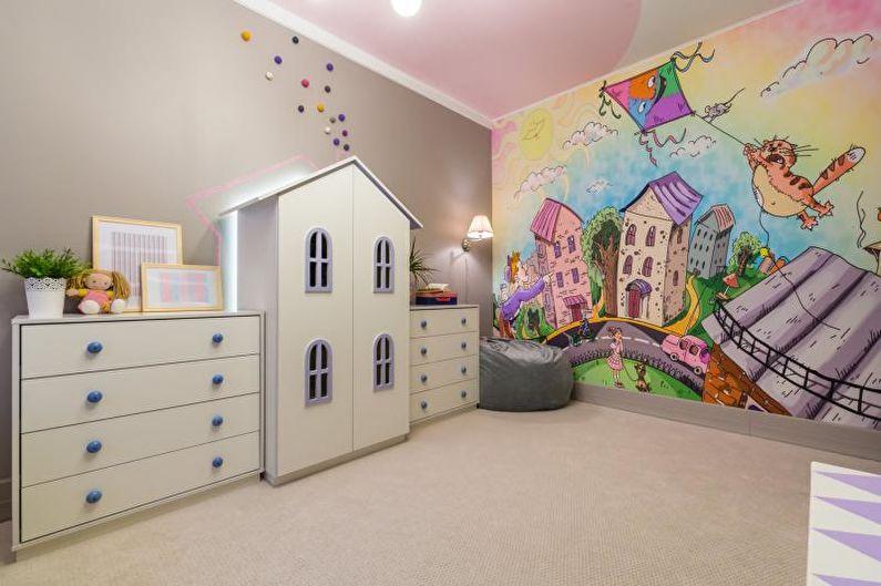 Дизайн детской комнаты в розовых тонах - Отделка пола