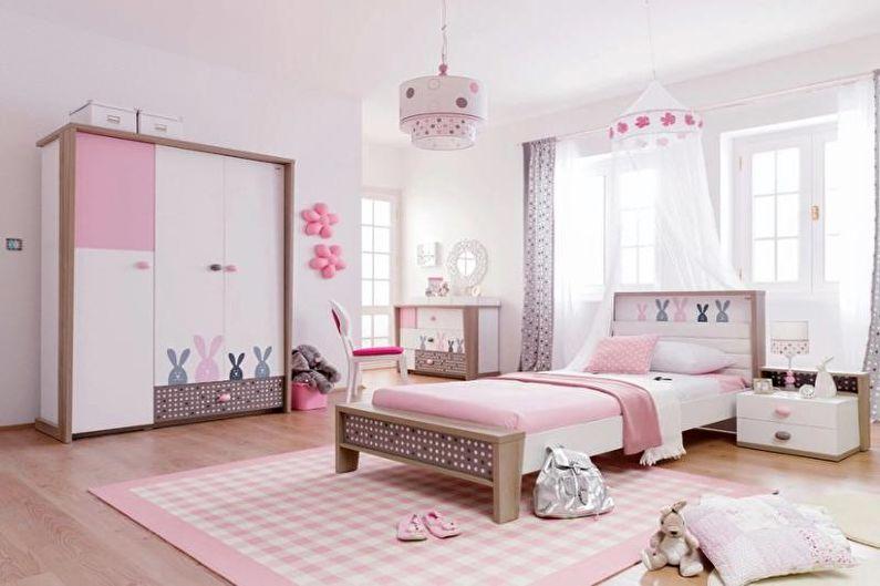 Дизайн розовой детской комнаты - Мебель