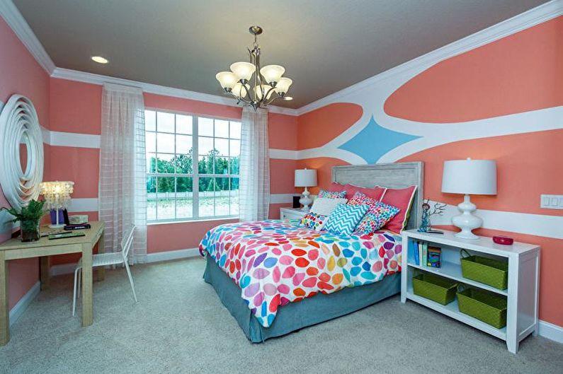 Дизайн розовой детской комнаты - Декор и освещение