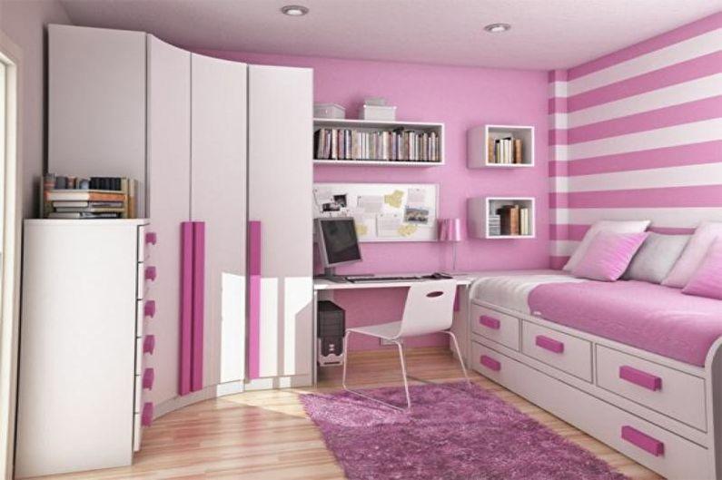 Маленькая розовая детская комната - Дизайн интерьера