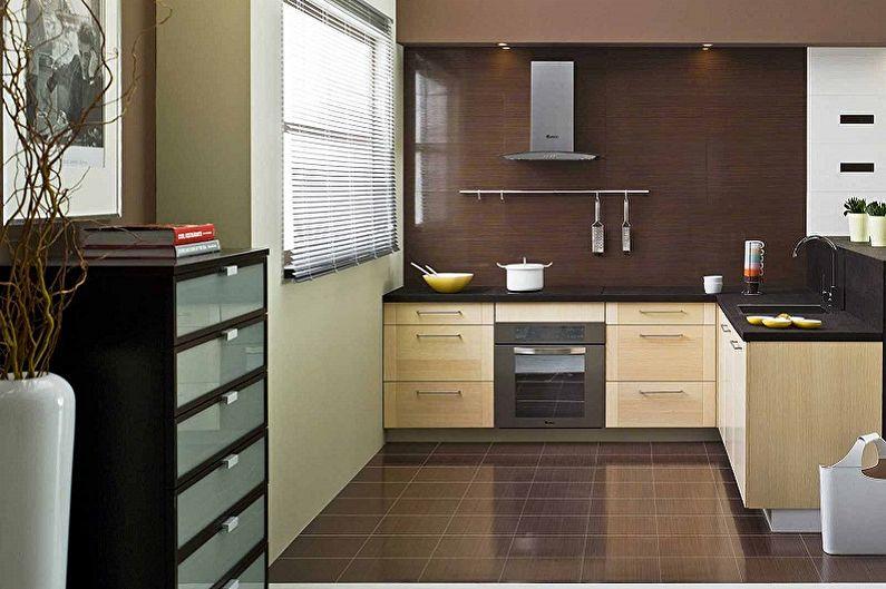 Бежевая кухня в современном стиле - Дизайн интерьера