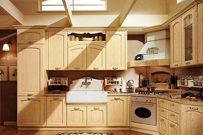 Бежевая кухня - дизайн интерьера фото