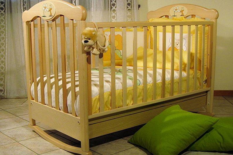 Типы детских кроваток для новорожденных по конструкции - Кровать-качалка