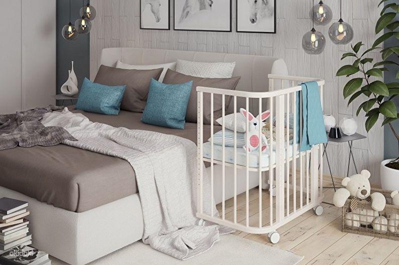 Типы детских кроваток для новорожденных по конструкции - Приставная кроватка