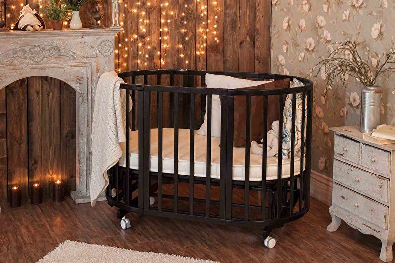 Типы детских кроваток для новорожденных по конструкции - Кровать на колесиках