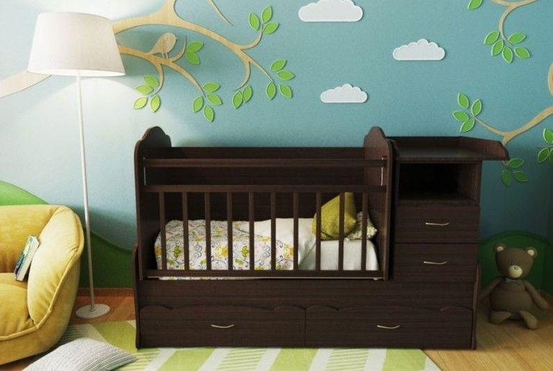 Типы детских кроваток для новорожденных по конструкции - Кровать-трансформер