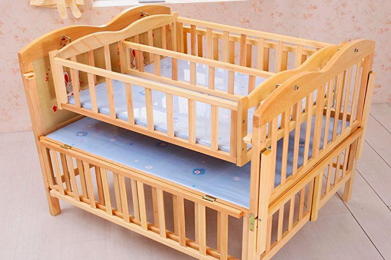 Типы детских кроваток для новорожденных по конструкции - Сдвоенные кроватки