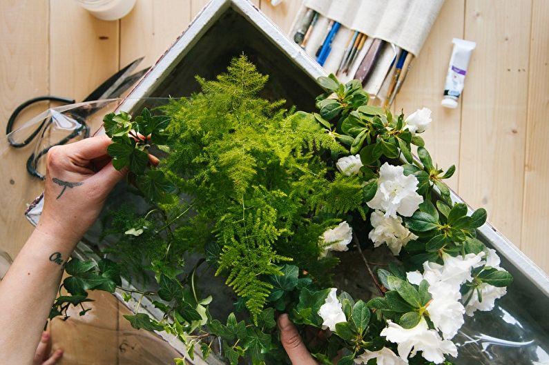 Кашпо для цветов из чемодана своими руками