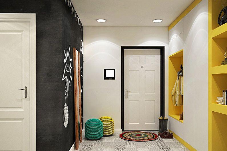 Дизайн прихожей в скандинавском стиле - Отделка потолка