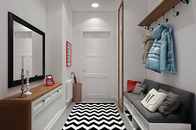 Дизайн прихожей в скандинавском стиле - Мебель