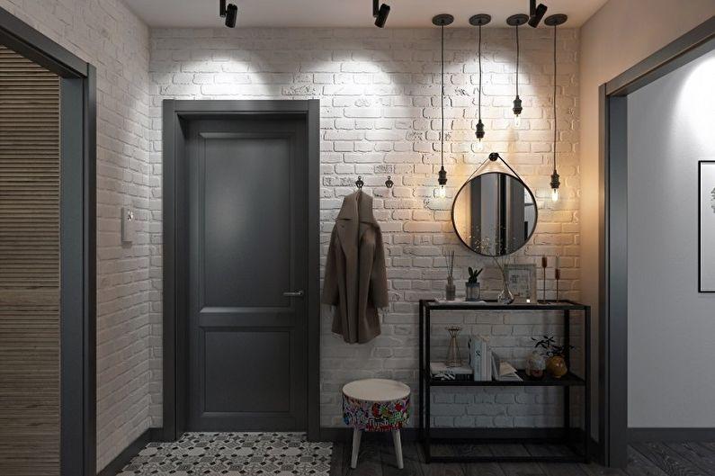 Дизайн прихожей в скандинавском стиле - Декор и освещение