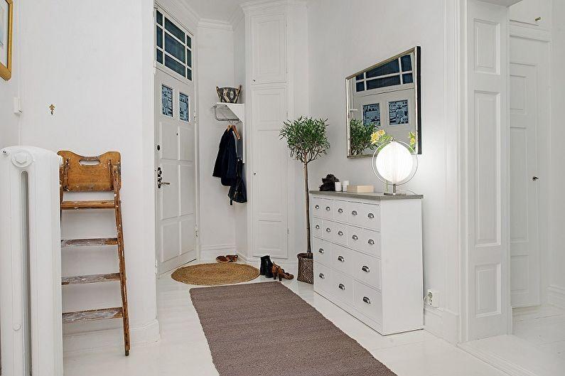 Маленькая прихожая в скандинавском стиле - Дизайн интерьера