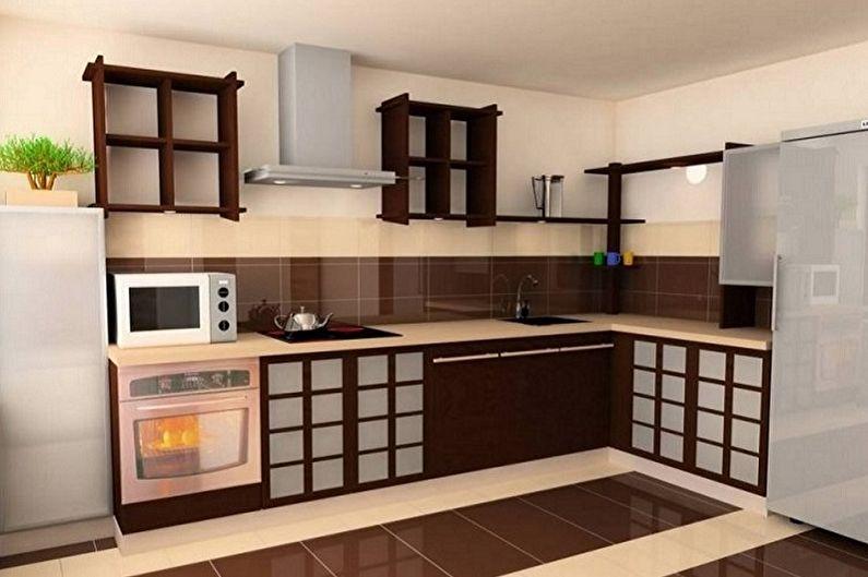 Дизайн кухни в восточном стиле - Отделка пола
