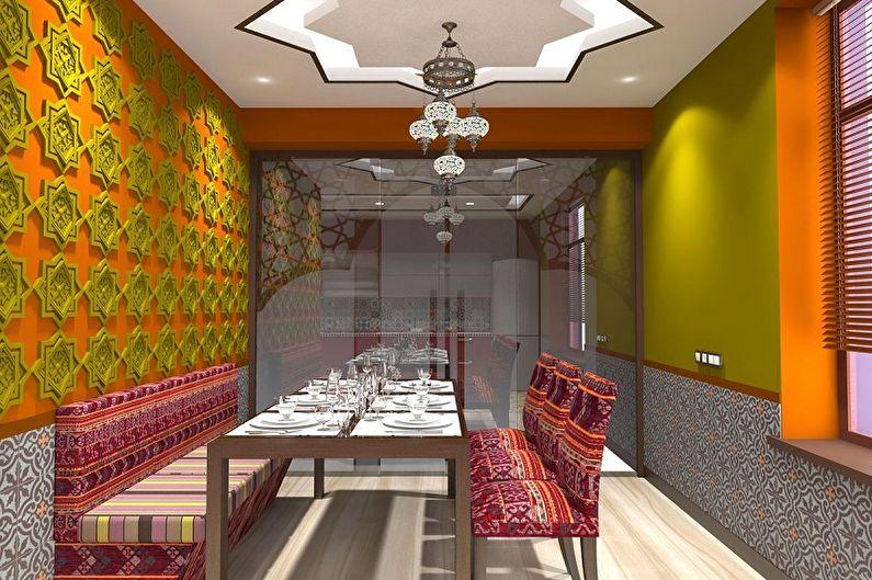 Дизайн кухни в восточном стиле - Отделка стен