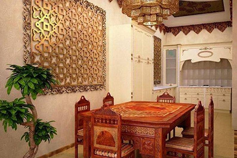 Дизайн кухни в восточном стиле - Мебель