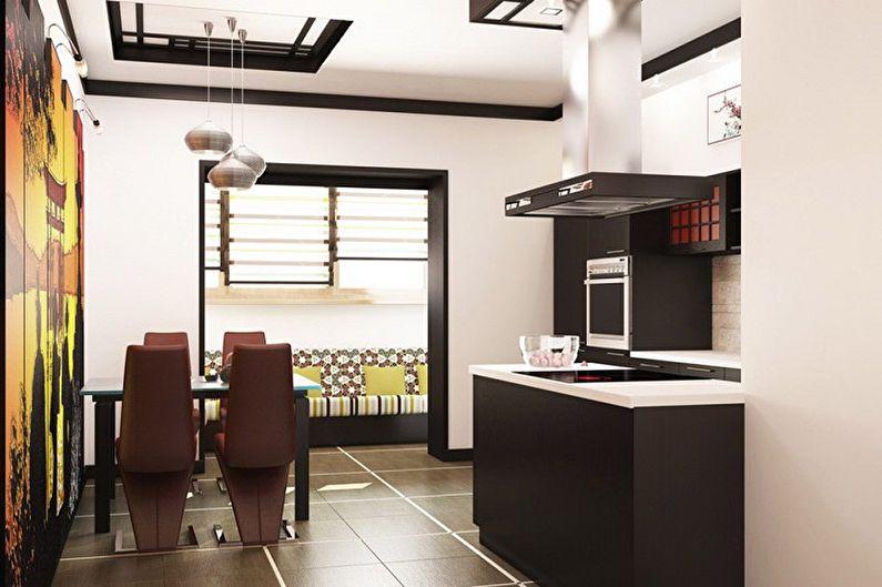 Маленькая кухня в восточном стиле - Дизайн интерьера