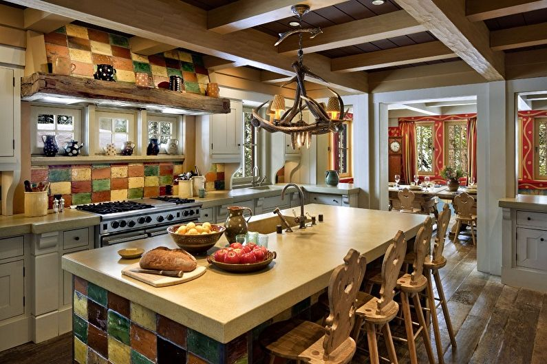 Кухня в восточном стиле - дизайн интерьера фото