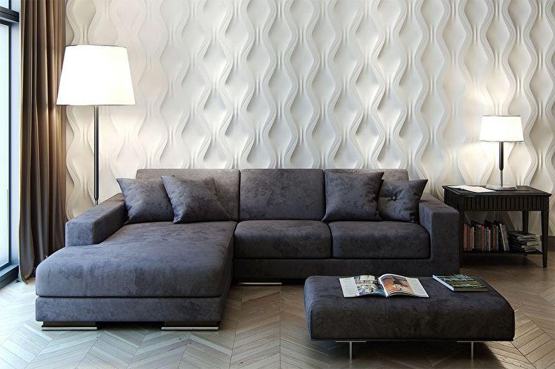 Виды стеновых панелей для внутренней отделки - Гипсовые панели