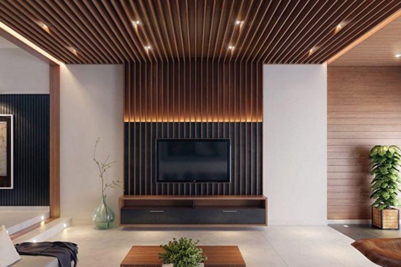 Типы конструкций стеновых панелей для внутренней отделки - Реечные панели