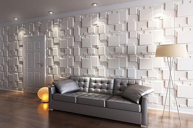 Типы конструкций стеновых панелей для внутренней отделки - Плиточные панели