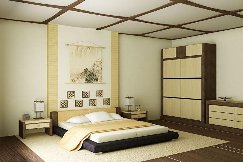 Дизайн спальни в японском стиле - Отделка пола