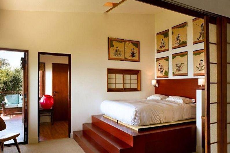 Дизайн спальни в японском стиле - Мебель