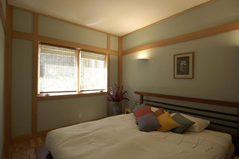 Маленькая спальня в японском стиле - Дизайн интерьера