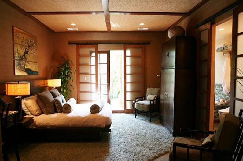 Спальня в японском стиле - дизайн интерьера фото