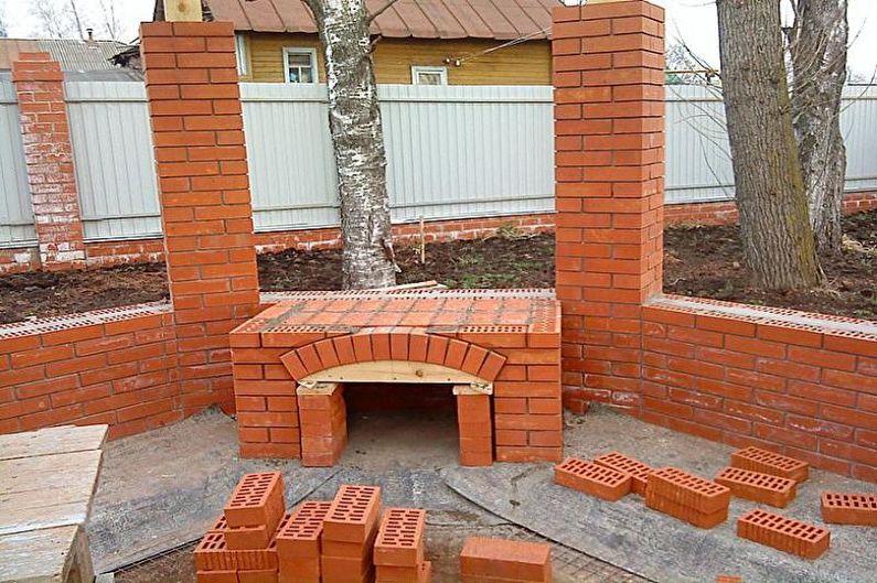 Беседки с мангалом, печкой или барбекю - Этапы строительства