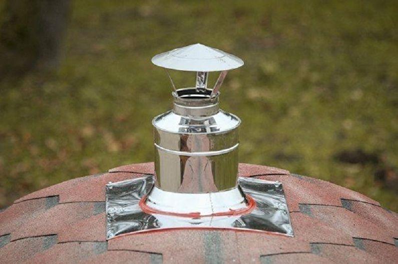 Этапы сборки бани-бочки своими руками - Печь, дымоход, вентиляция
