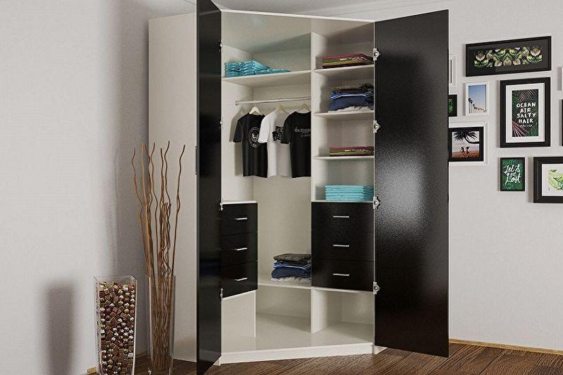 Виды платяных шкафов - По способу открытия