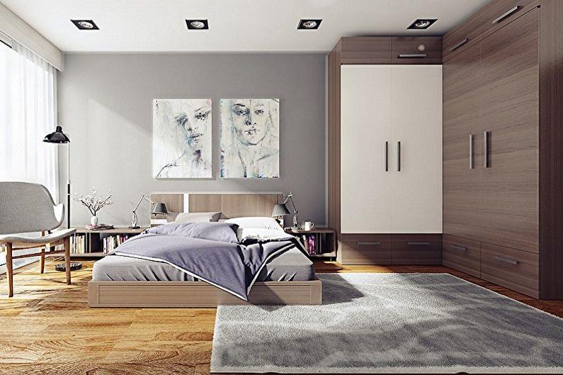 Платяной шкаф в интерьере спальни