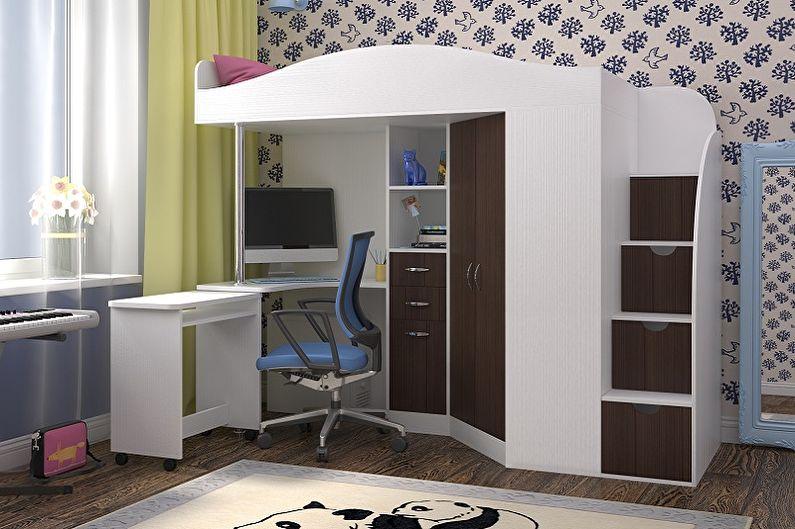 Платяной шкаф в интерьере детской комнаты