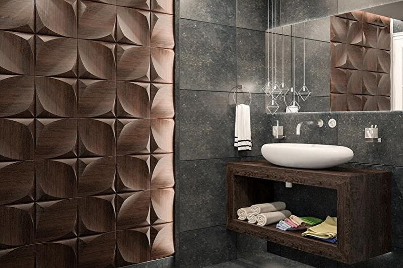 Виды пластиковых панелей для ванной комнаты - Пластиковые 3D панели для ванной