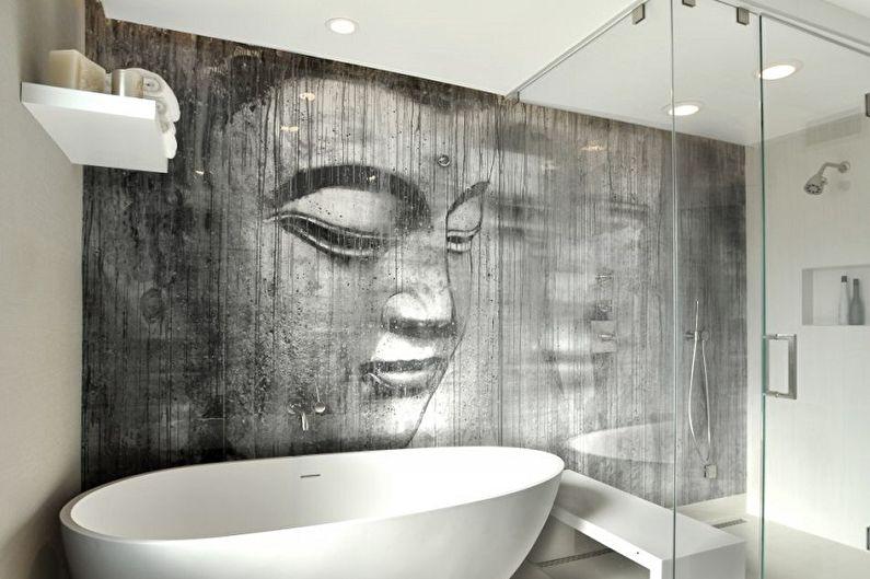 Пластиковые панели для ванной комнаты с рисунком