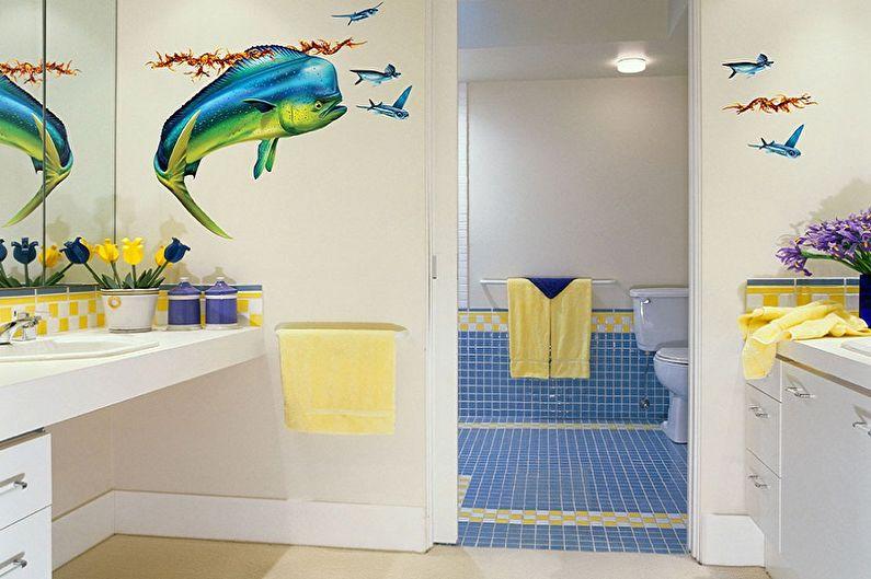 Идеи оформления пластиковых панелей для ванной комнаты - Оклеивание пленкой и наклейками
