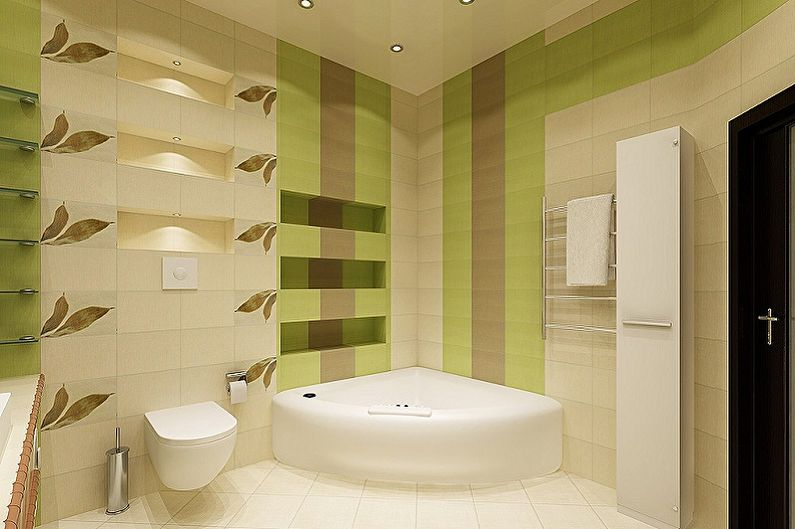 Идеи оформления пластиковых панелей для ванной комнаты - Комбинация цветов